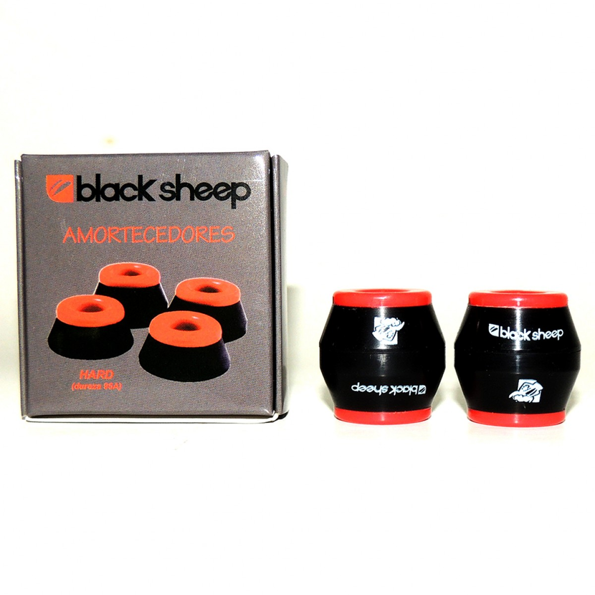 4983093b0a48d Amortecedor Black Sheep Cônico 95A Importado ⎢Skate de Corpo e Alma ...