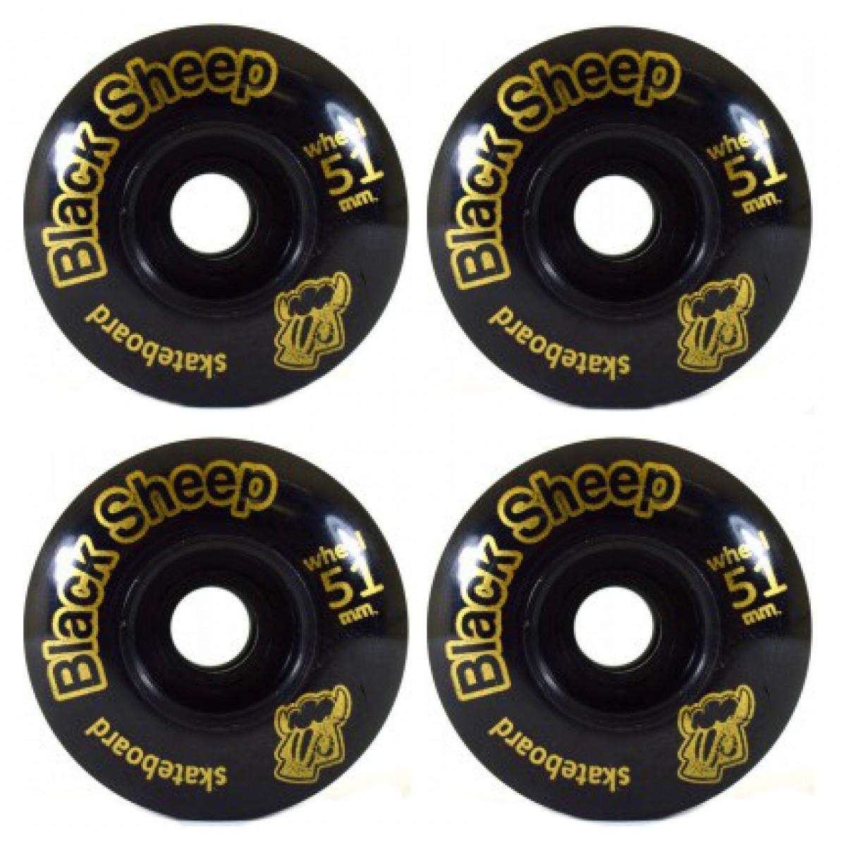 8dc5264de897d Roda Black Sheep Color 3 - Preta 51mm ⎢Skate de Corpo e Alma - Only ...