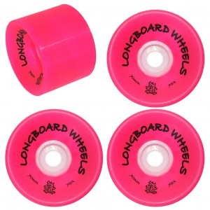 Roda longboard Wood Light 70mm 75a - Vermelha