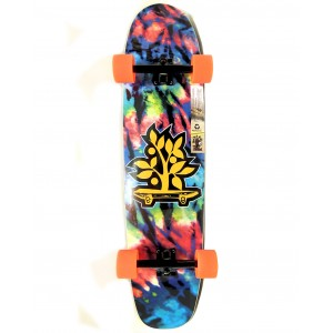Longboard Wood Light FREE RIDE TIE DYE